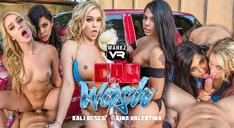 Car Wash feat. Gina Valentina, Kali Roses - VR Porn Video