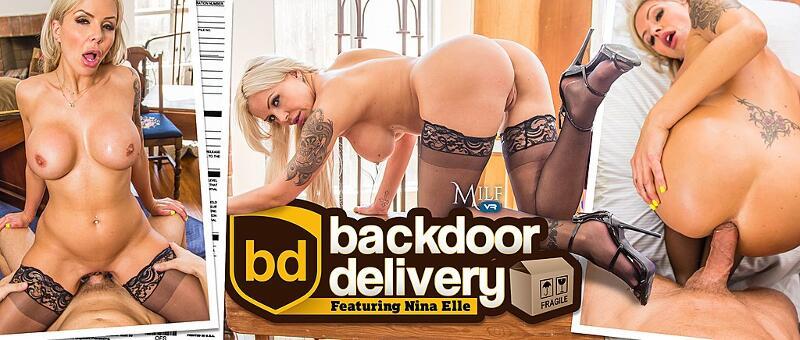 Backdoor Delivery feat. Nina Elle - VR Porn Video
