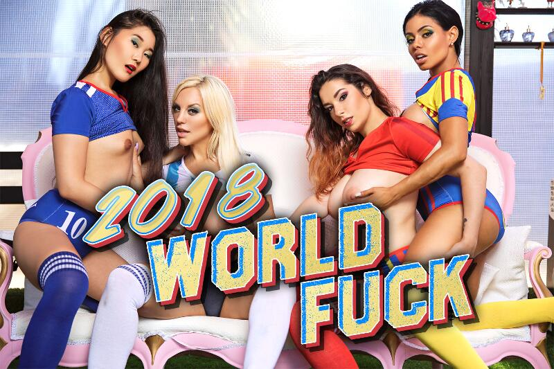 2018 World Fuck feat. Blondie Fesser, Canela Skin, Katana, Zenda Sexy - VR Porn Video