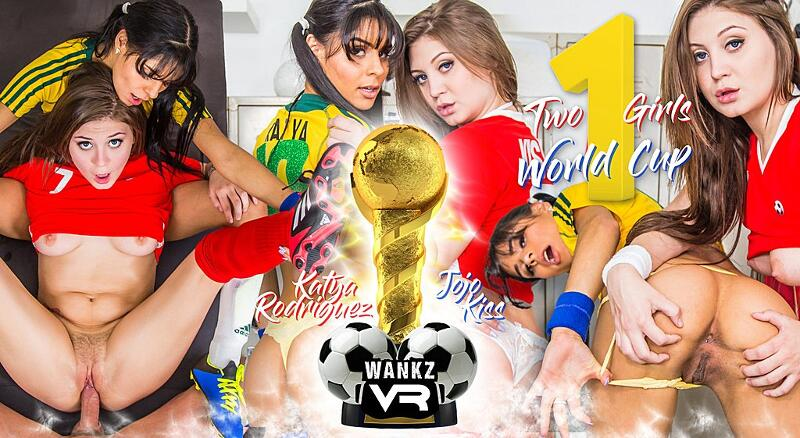 Two Girls, One World Cup feat. Jojo Kiss, Katya Rodriguez - VR Porn Video