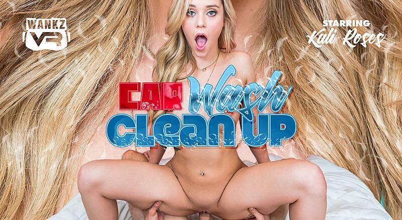 Car Wash Clean Up feat. Kali Roses - VR Porn Video