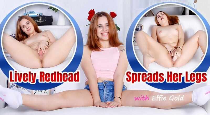 Lively Redhead Spreads Her Legs feat. Effie Gold - VR Porn Video