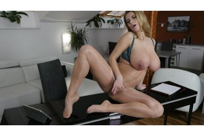 Pregnant Secretary In Pantyhose - Kathy Kozy - VR Porn - Image 27