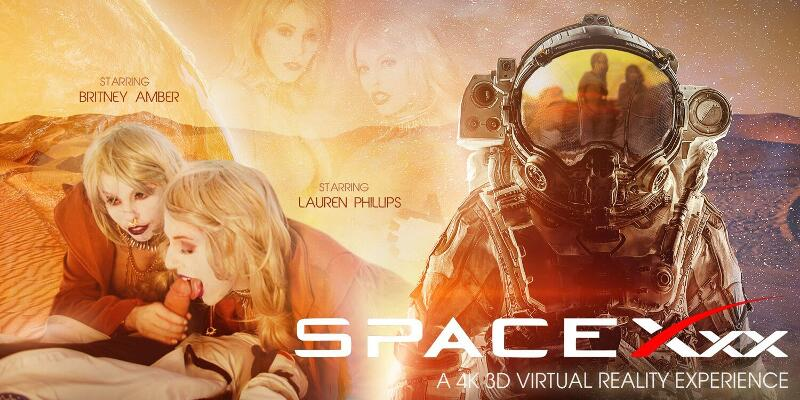 SpaceXXX feat. Britney Amber, Lauren Phillips - VR Porn Video