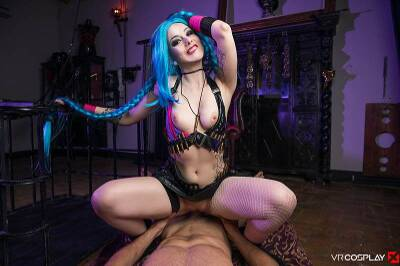 LOL: Jinx XXX Parody - Alessa Savage - VR Porn - Image 36