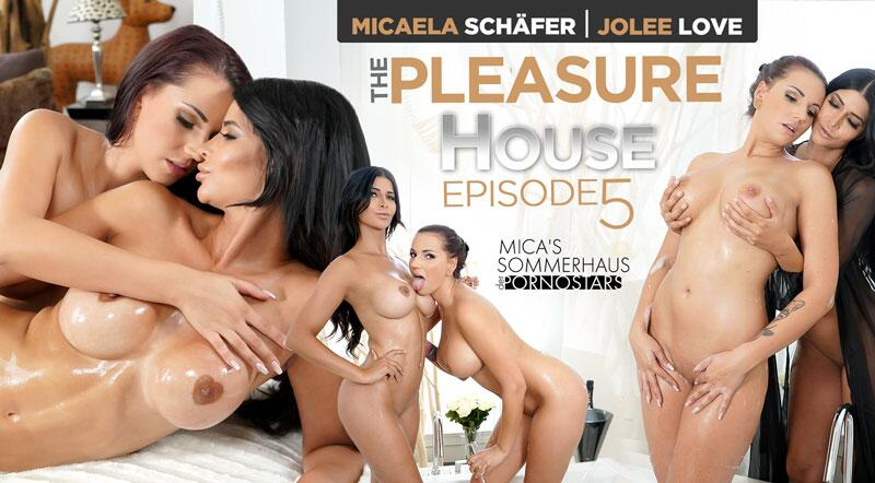 The Pleasure House feat. Jolee Love, Micaela Schäfer - VR Porn Video
