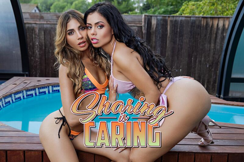Sharing is Caring feat. Baby Nicols, Canela Skin - VR Porn Video