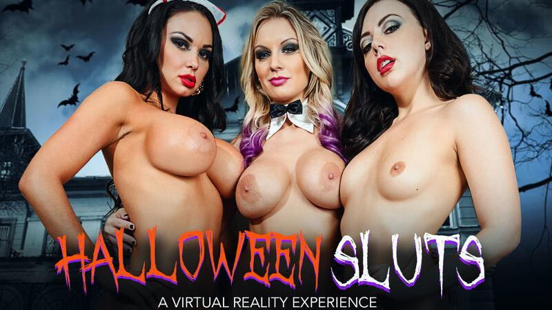 Halloween Sluts feat. Brooke Beretta, Kenzie Taylor, Whitney Wright, Bambino - VR Porn Video