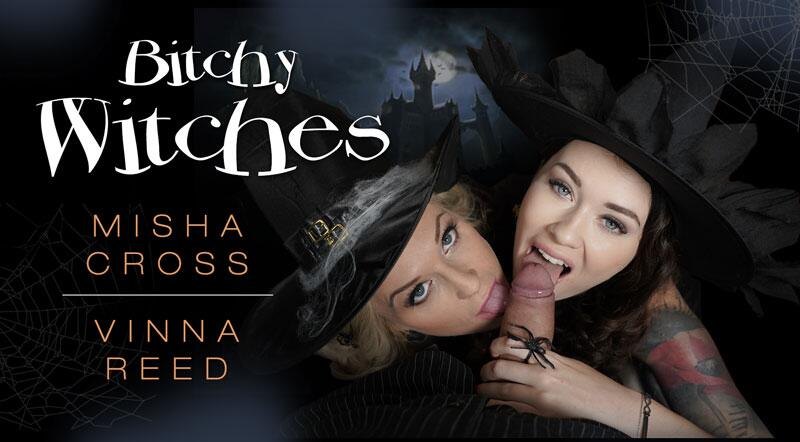 Bitchy Witches feat. Misha Cross, Vinna Reed - VR Porn Video