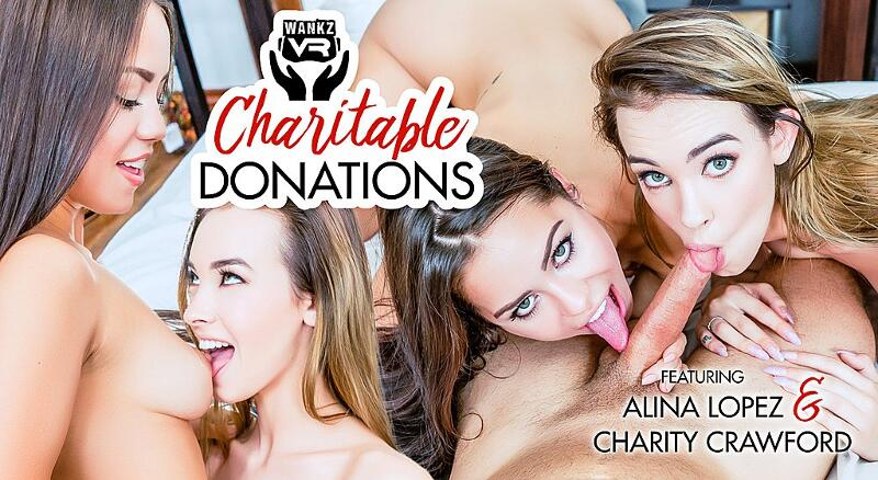 Charitable Donations feat. Alina Lopez, Charity Crawford - VR Porn Video