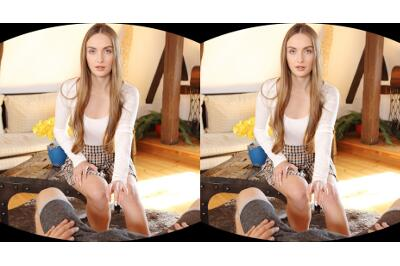 Cutie Relieves Stress After College - Lena Reif - VR Porn - Image 1