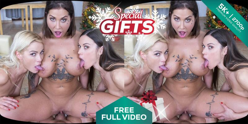 Special Gifts feat. Alyssa Reece, Cherry Kiss, Heidi Van Horny - VR Porn Video