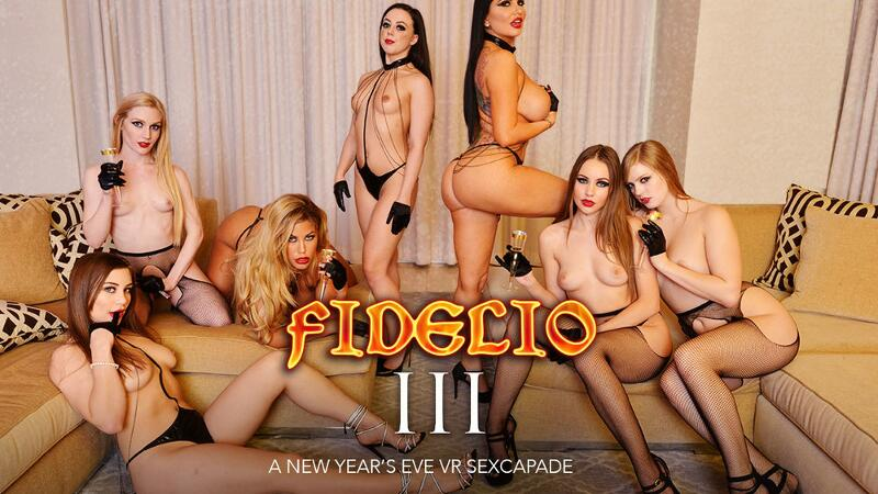 Fidelio III New Year's Eve Sexcapade feat. Bridgette B, Dolly Leigh, Emma Starletto, Kayla Paris, Naomi Blue, Romi Rain, Whitney Wright, Bambino - VR Porn Video