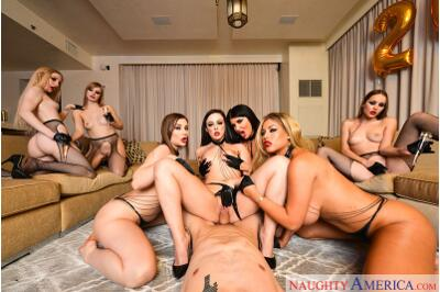 Fidelio III New Year's Eve Sexcapade - Bambino, Bridgette B, Dolly Leigh, Emma Starletto, Kayla Paris, Naomi Blue, Romi Rain, Whitney Wright - VR Porn - Image 32