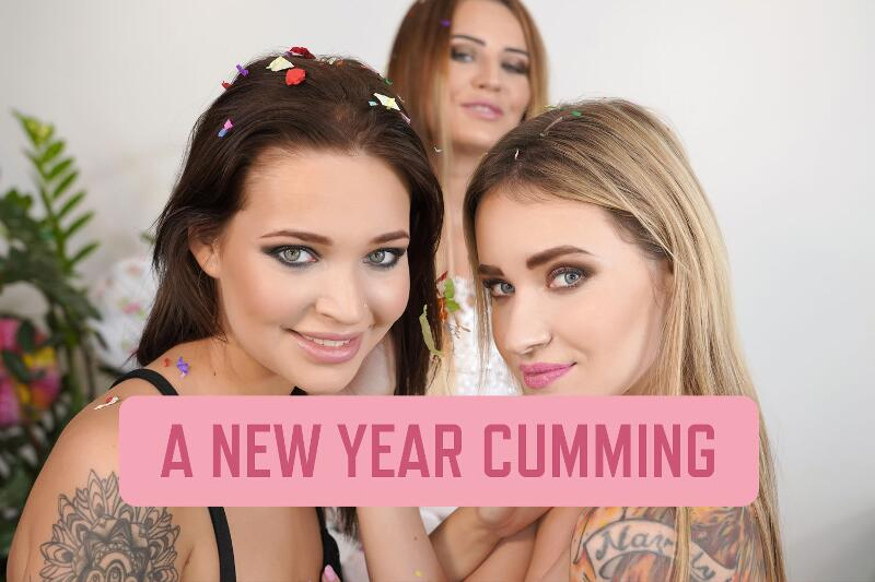 A New Year Cumming feat. Angel Piaff, Mia Ferrari, Timea Bella - VR Porn Video