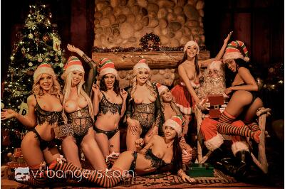 Santa's Naughty Elves (Part 2) - Alex More, Abella Danger, Allie Nicole, Astrid Star, Carmen Caliente, Kira Noir, Milana May, Xandra Sixx - VR Porn - Image 6