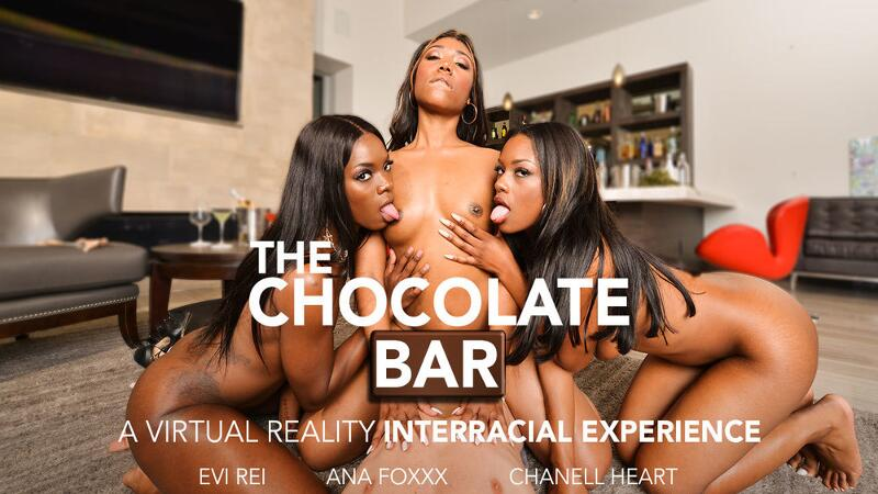 Chocolate Bar feat. Ana Foxxx, Chanell Heart, Evi Rei, Brad Sterling - VR Porn Video