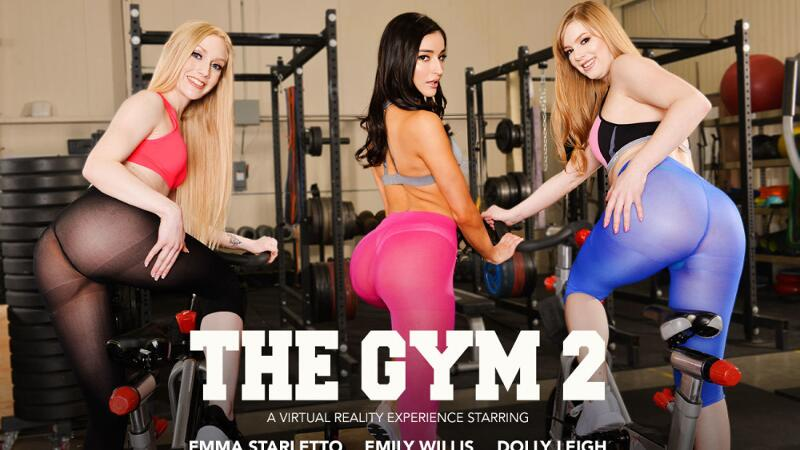 The Gym 2 feat. Dolly Leigh, Emily Willis, Emma Starletto, Ryan Driller - VR Porn Video