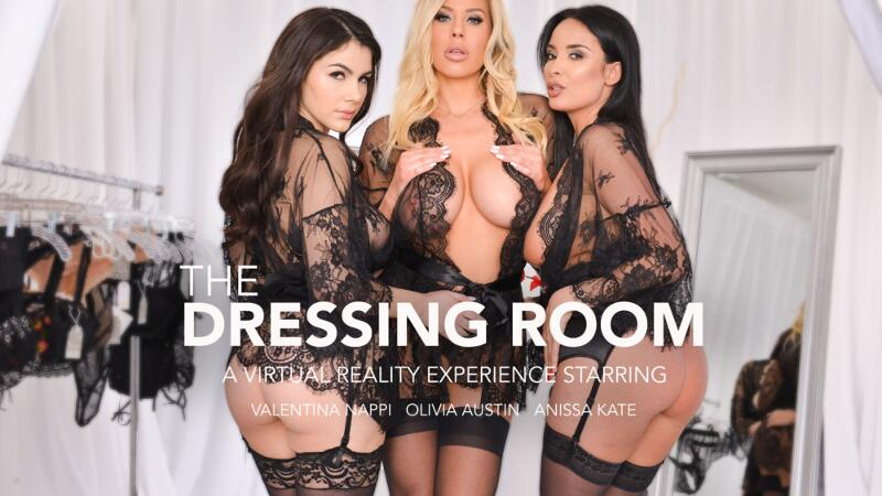 The Dressing Room feat. Anissa Kate, Olivia Austin, Valentina Nappi, Brad Sterling - VR Porn Video