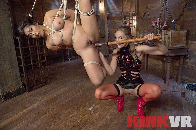 Lesbian Rope Slut feat. Mia Li, Mona Wales - VR Porn Video