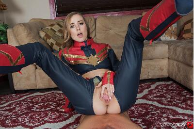 Captain Marvel A XXX Parody - Haley Reed - VR Porn - Image 1
