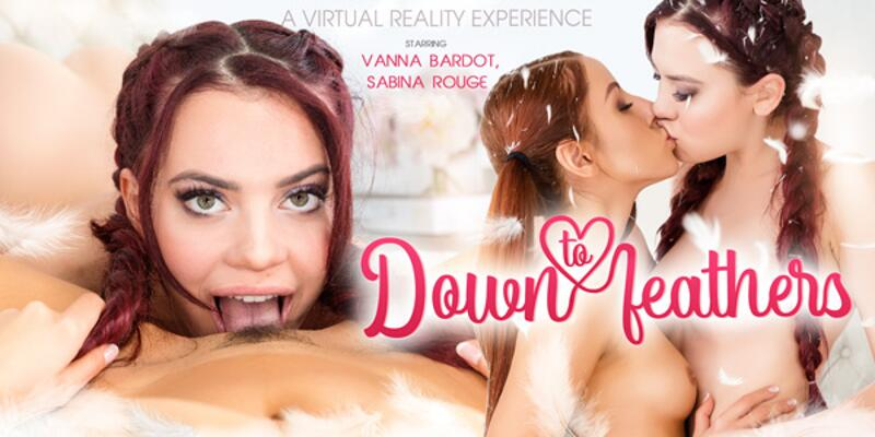 Down To Feathers feat. Sabina Rouge, Vanna Bardot - VR Porn Video
