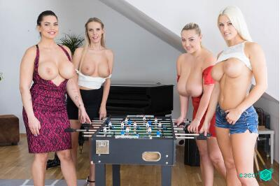 Fivesome with Huge Tits - Florane Russell, Blanche Bradburry, Chloe Lamour, Krystal Swift - VR Porn - Image 17