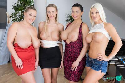 Fivesome with Huge Tits - Florane Russell, Blanche Bradburry, Chloe Lamour, Krystal Swift - VR Porn - Image 18