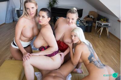 Fivesome with Huge Tits - Florane Russell, Blanche Bradburry, Chloe Lamour, Krystal Swift - VR Porn - Image 29