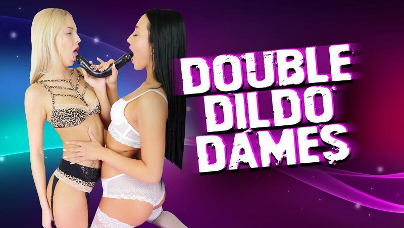 Double Dildo Dames feat. Anna Rose, Karol Lilien - VR Porn Video
