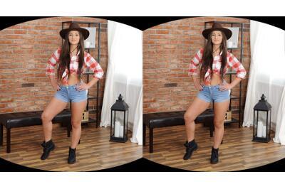 Cowboy Hat Over Wet Pussy - Nicolette Noir - VR Porn - Image 1