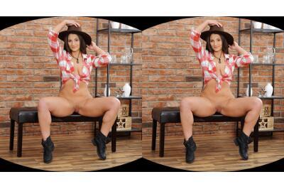 Cowboy Hat Over Wet Pussy - Nicolette Noir - VR Porn - Image 4