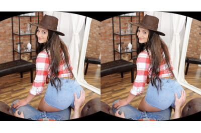 Cowgirl Comes To Town For Sex - Nicolette Noir - VR Porn - Image 1