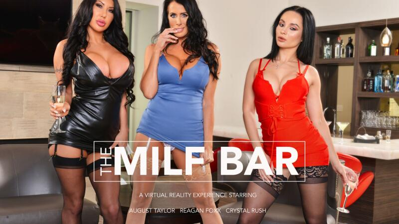 Milf Bar feat. August Taylor, Crystal Rush, Reagan Foxx, Ryan Driller - VR Porn Video