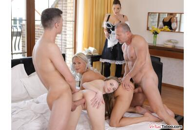 Family Chronicles: New Maid Is Great - Lady Bug, Kathy Anderson, Sofia Lee - VR Porn - Image 25