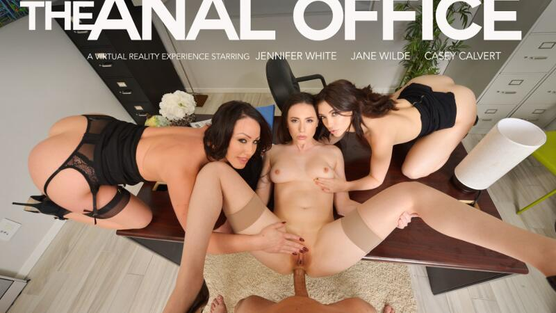 The Anal Office feat. Casey Calvert, Jane Wilde, Jennifer White, Ryan Driller - VR Porn Video