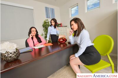 The Anal Office - Casey Calvert, Jane Wilde, Jennifer White, Ryan Driller - VR Porn - Image 1