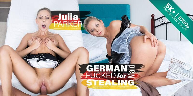German Maid Fucked for Stealing feat. Julia Parker - VR Porn Video