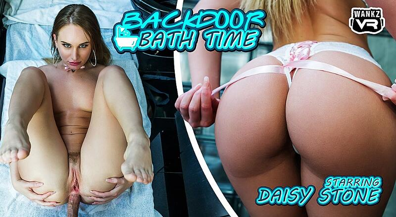 Backdoor Bath Time feat. Daisy Stone - VR Porn Video
