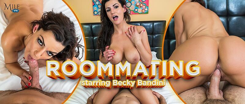 RoomMating feat. Becky Bandini - VR Porn Video