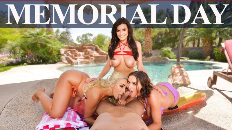 Memorial Day feat. Becky Bandini, Krissy Lynn, Kylie Kingston, Ryan Driller - VR Porn Video