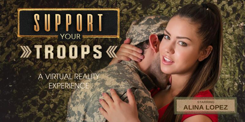 Support Your Troops feat. Alina Lopez - VR Porn Video