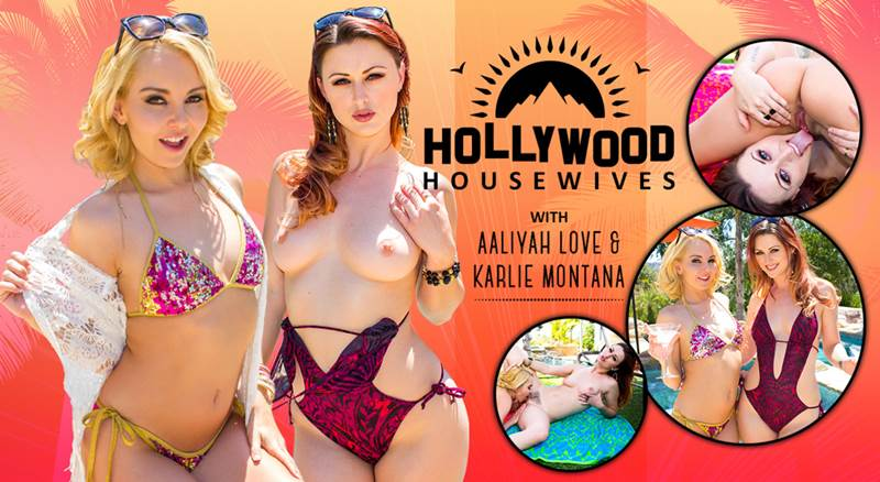 Hollywood Housewives feat. Aaliyah Love, Karlie Montana - VR Porn Video