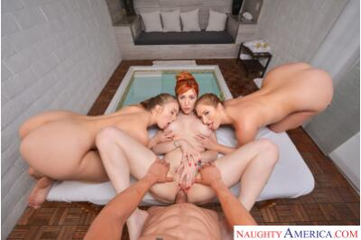 Big Tits Spa - Lauren Phillips, Lena Paul, Skylar Snow, Bambino - VR Porn - Image 4