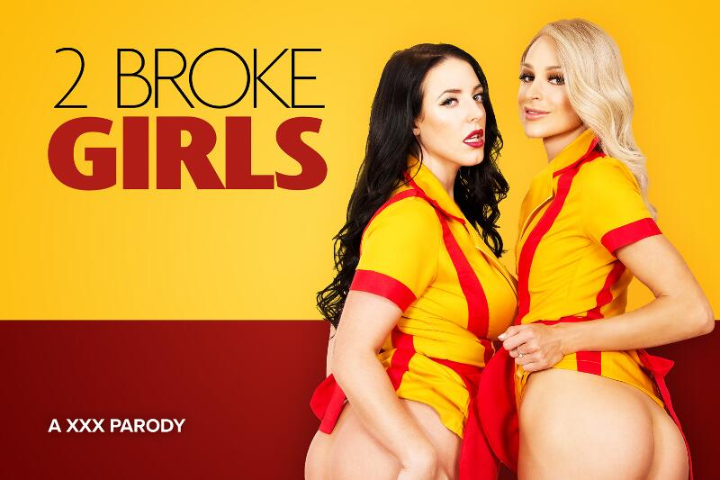 2 Broke Girls A XXX Parody feat. Angela White, Emma Hix - VR Porn Video