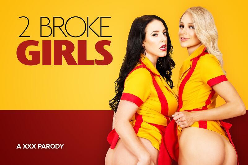 2 Broke Girls A XXX Parody feat. Angela White, Emma Hix - VR Porn Video