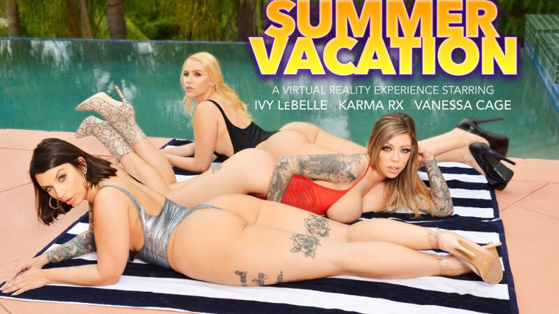 Summer Vacation feat. Ivy Lebelle, Karma Rx, Vanessa Cage, Ryan Driller - VR Porn Video
