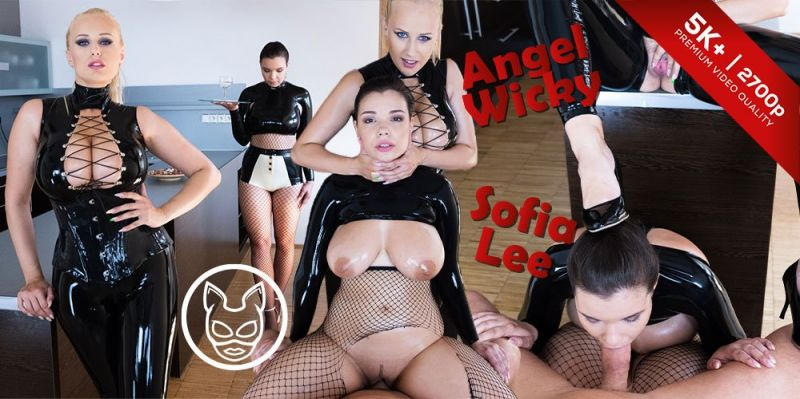 Endowed Mistress with Busty Slave feat. Angel Wicky, Sofia Lee - VR Porn Video