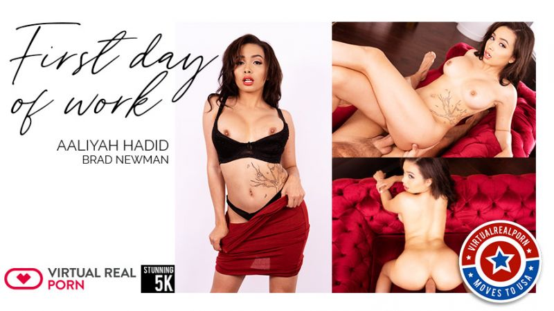 First Day Of Work feat. Aaliyah Hadid - VR Porn Video