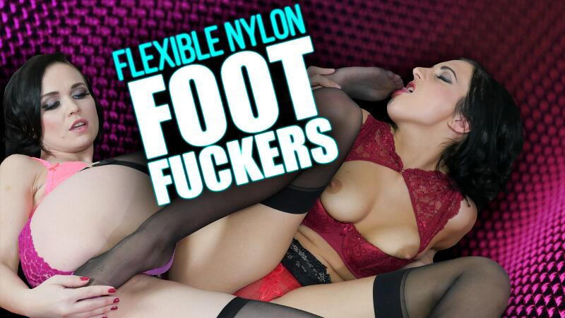 Flexible Nylon Foot Fuckers feat. Ally Style, Asdis Loren - VR Porn Video